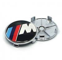 Заглушки колпачки литых дисков BMW M-power 68мм, фото 1