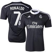Футбольная форма Реал Мадрид Роналдо (Ronaldo) 2014-2015 выездная (черная)