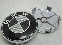Заглушки колпачки литых дисков BMW Carbon