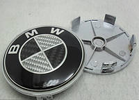 Заглушки колпачки литых дисков BMW Carbon, фото 1