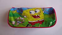 Пенал-косметичка Губка боб Sponge Bob.Пенал-кошелек на молнии из плотной полиестровой ткани.Пенал школьный Губ