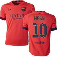 Футбольная форма Барселона Месси (Messi) 2014-2015 выездная (оранжевая)