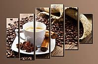 """Модульная картина на холсте """"Кофе в зернах"""""""