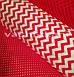 Ткань хлопковая зигзаг красный № 64а, фото 2