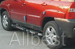 Боковые подножки пороги Hyundai Santa Fe (2006-2010)