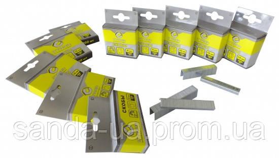 Скобы для степлера строительного 1000шт 14х11.3мм Т53