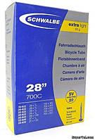 Камера 700 х 18-25C (18/25 - 622/630) Schwalbe EXTRA LIGHT SV20, FV60