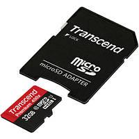 Карта памяти Transcend 32GB microSDHC Class10 + SD adapter