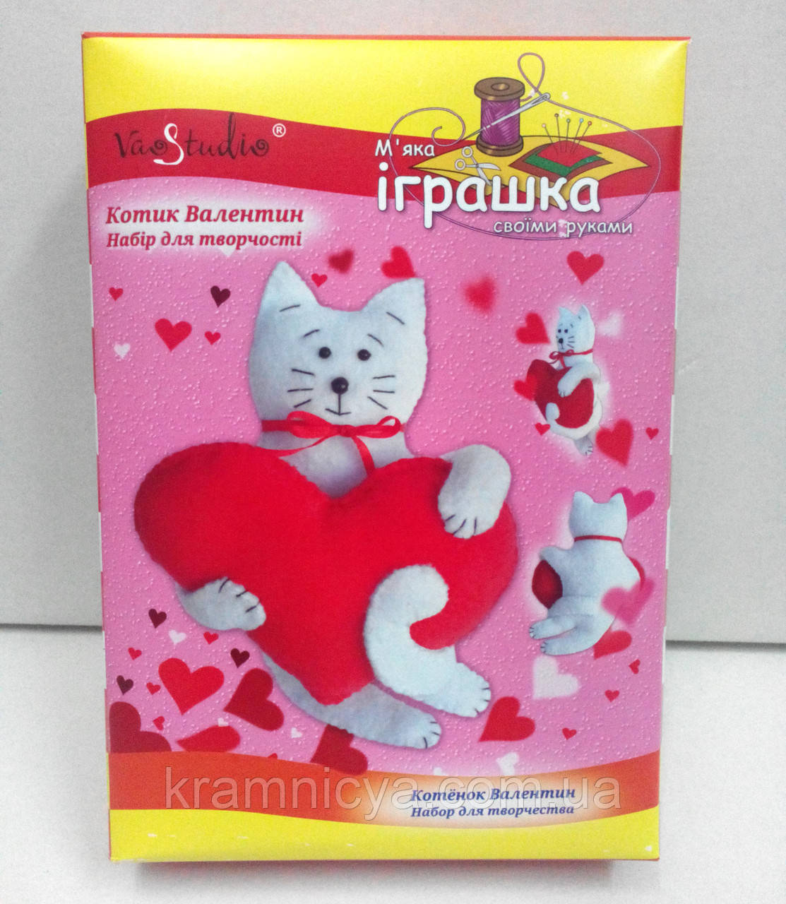 Набор для творчества 'Котик Валентин', серия Мягкая игрушкa
