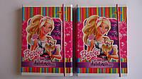 """Папка для тетрадей """"Барби.Barbie"""".Папка для тетрадей картонная,ламинированная на резинке с расписанием уроков"""