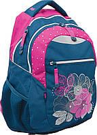 Школьный рюкзак 1 вересня Т-23 flowers подростковый (552644)