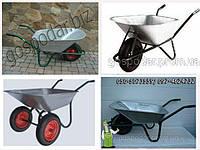 Тачки садовые одно-, двох-колесные на 85, 100 литров
