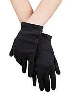 Перчатки  чёрные короткие