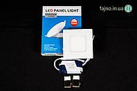 Светодиодный врезной светильник потолочный 3 Вт (90 х 70 мм)