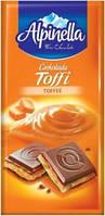 """«Шоколад """"Alpinella Toffee"""" (Альпинелла с начинкой тоффи), Польша, 100г"""