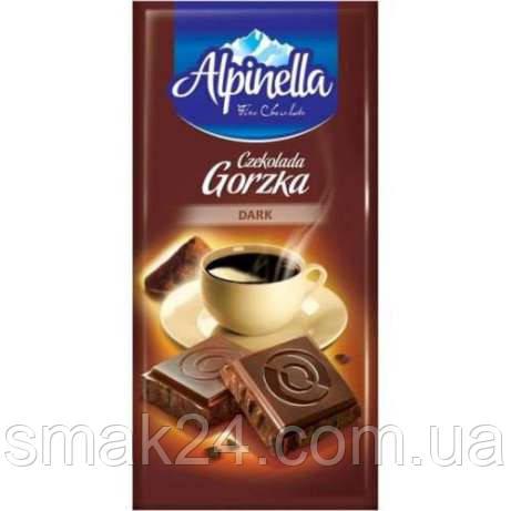 """Шоколад """"Alpinella Czekolada Gorzka Dark""""(Альпинелла черный горький), Польша, 100г"""