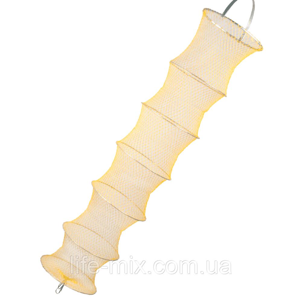 Садок Winner из плетеной лески желтый 45x200см