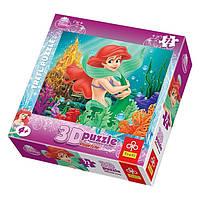 """Пазлы 3D Дисней """"Подводная принцесса"""" Trefl 35541, 72 детали"""