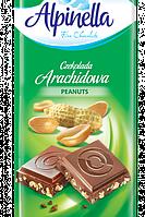 """Шоколад """"Alpinella""""(Альпинелла молочный шоколад с арахисом), Польша, 100г"""
