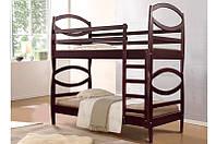 Кровать двухярусная из натурального дерева «Виктория»