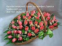 """Шикарный конфетный букет из бутонов роз """"Феерия""""№41"""