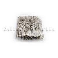 """Аксессуары для волос; Шпилька """"театралка"""" хромированная, длина: 6,5 см, цвет: стальной, 100 штук в упаковке"""