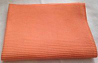 Ткань вафельная - персиковая , ширина  45см.