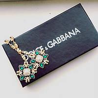 Серьги Dolce & Gabbana зеленые, купить сережки длинные серьги