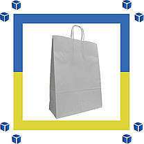 Бумажный пакет белый с витыми ручками (180мм/80мм/225мм), фото 3