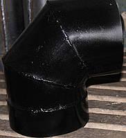 Коліно з чорного листового металу d-100