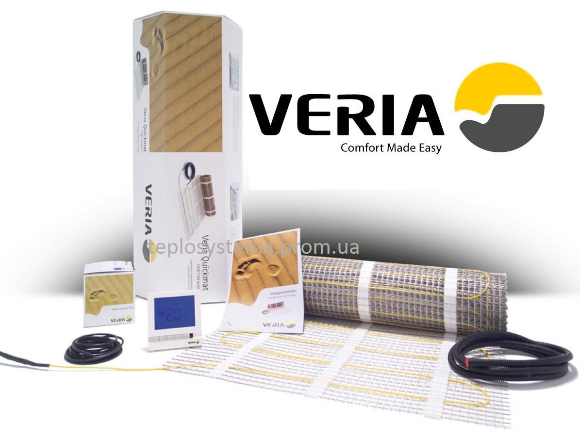 Тепла підлога - Двожильний нагрівальний мат Veria Quickmat 150 - 1,0 м2 (150 Вт), DEVI Данія