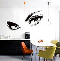 Наклейка виниловая Глаза 3D декор