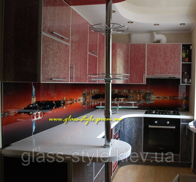 Кухонные панели из стекла под заказ