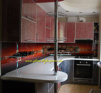Кухонные панели из стекла под заказ, фото 1