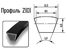 Ремни профиль Z(0) 10x6