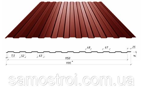 Профнастил ПС-8 стеновой 0.45мм Економ+ Турция