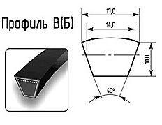 Ремни профиль В(Б) 17х11