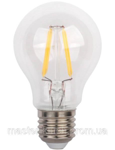 Светодиодная лампа Delux BL60 Filament LED 6W 2700K E27 А60 прозрачная