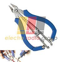 Кусачки Pro'sKit 1PK-066N, мікро, мідний дріт до 1,2 мм, 130 мм з зачисткою