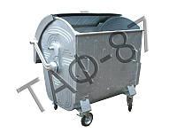 Евроконтейнер для мусора 1,1 м.куб.,1,25 мм оцинкованный