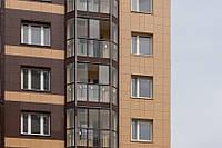 Вентилируемый фасад жилого дома (монтаж)