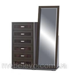 Комод Токио 6Ш с зеркалом 1610х1165х475мм    Мебель-Сервис