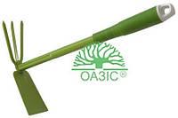 Тяпка-трезубец  с пластмассовой рукояткой 9383F, Оазис