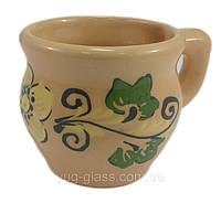 "Чашка ""Глянець"" 300 мл глиняна (глазурована) в асортименті"