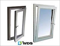 Одностворчатые металопластиковые окна 4х-камерка