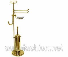 Стійка з йоржиком плитка для ванни PACCINI&SACCARDI PIANTANE 5014 золото