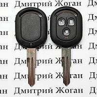 Копус ключа для Chevrolet Lacetti (Шевролет Лачети), 3-кнопки (вариант №1)