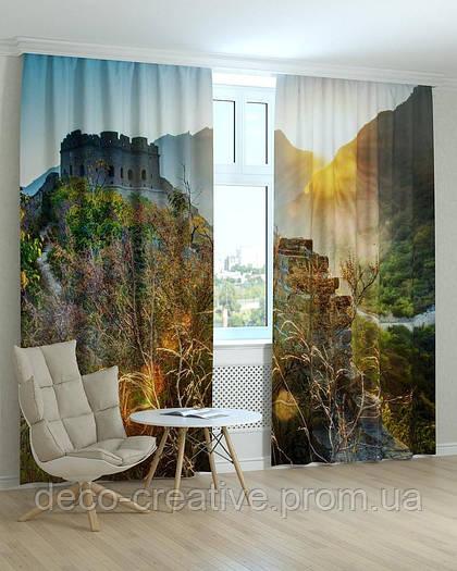 Фотошторы  замок в горах