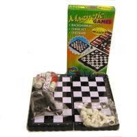 Шахматы, шашки, нарды- набор игр 3в1. Магнитные