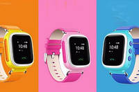 Детские умные GPS часы Smart Baby Watch Q100 с трекером отслеживания цветной сенсорный экран WiFi  1 (розовый)